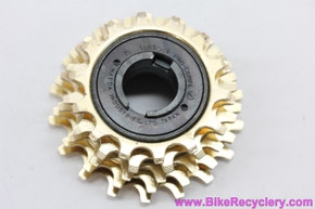 NOS Suntour Pro Compe 5 Speed Freewheel: 14-18t - Gold - 1970's - Straight Block Corncob