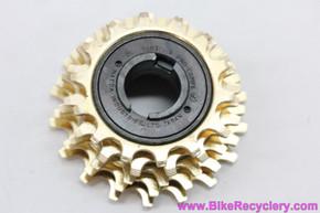NOS Suntour Pro Compe 5 Speed Freewheel: 14-18t - Gold - 1970's - Straight Block Corncob