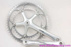 Campagnolo Record 9 Speed Crankset: 172.5mm x 53/39t - Bolts/Caps (EXC+)
