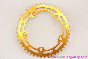 "Shimano Takagi DX / MX BMX Chainring: GOLD Ano - 45T x 130mm - 3/32"" - Old School 1980's (Near Mint Show Worthy!)"