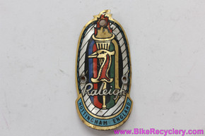 Raleigh Anniversary Heron/Torch Head Badge: ~1965-1970 Professional / International / Super Course / Carlton (Near Mint)