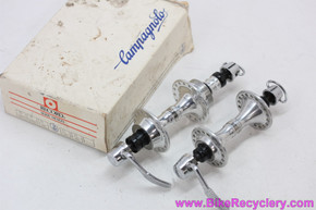 NIB/NOS Campagnolo Croce D'Aune Hubset: B300 - Low Flange - 36H x 130mm - C-Record QR Skewers (front was laced)
