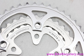 NOS Campagnolo ATB MTB Chainring Set: 46t / 36t / 30t - 110/74mm - Euclid Centaur Record O.R. - 1990's (take-off)