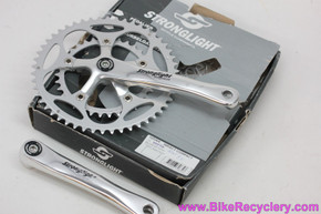 Stronglight Impact Compact Crankset: 175mm x 50/34t - Silver (NEW)