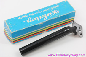 NIB/NOS Campagnolo Super Record Noir Fluted Seatpost: 27.2mm - Rare