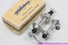 NIB/NOS Campagnolo Nuovo Record Strada Low Flange Hubset: 28H & 24H - 126mm - Curved Blade QR