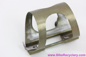 Ringle H2O Anodized Water Bottle Cage: 1990's - Gold- Original L Bracket / Bolts
