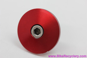 "Ringle Zooka Threadless Stem Top Cap & Bolt: 1 1/8"" - Red Anodized (Near Mint+)"