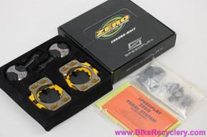 Speedplay Zero Clipless Pedals w/ Cleats: Black - Chromoly (NEW)