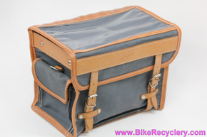Gilles Berthoud GB805 Handlebar Bag w/ Klick-Fix Mount: Grey (NEW)