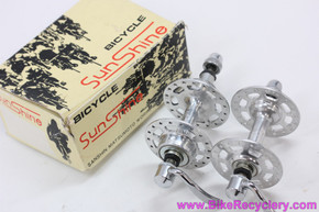 NIB/NOS Sunshine / Sanshin Pro Am High Flange Hubset: 36H x 120mm - QR Skewers