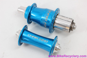 Chris King R45 Hubset: 8/9/10sp - 32H x 135mm - Cobalt Blue (Near Mint)