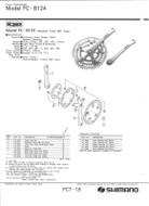 Shimano Biopace FC-b124 catalog scan