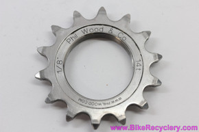 "Phil Wood Track Cog: 14t x 1/8"" - Stainless Steel - Thread On (Mint)"
