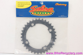 NIB/NOS Salsa Middle Chainring: 34t x 104mm 4 Bolt - Black CNC Cut