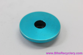 "Ringle Zooka Threadless Stem Top Cap & Bolt: 1 1/8"" - TURQUOISE Anodized(EXC))"