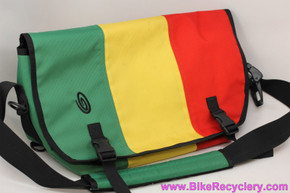 "Timbuk2 Rasta Classic Commuter Messenger Bag: Large 19"" - Waterproof - Red / Green / Yellow (NEW)"