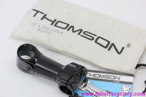 "NOS Thomson Elite X4 Mountain Bike Stem: 1 1/8"" -  100mm x 25.4mm x 15D - Cam Bolt Black"