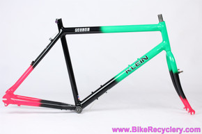 "1991 Klein Rascal ""FunkenKlein"" Frame & Fork: 22"" XL - Fresh Dave Wilkins Restoration - Black/Green/Pink (MINT)"