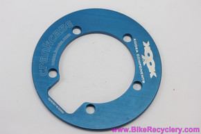 NOS Kooka Crankcase Bash Guard: 110mm 5-Bolt Cobalt Blue Anodized - 1990's DH