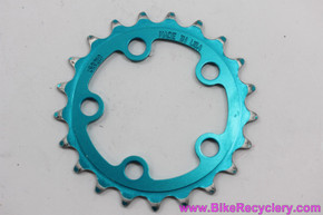 TURQUOISE Anodized Vuelta Granny Chainring: 21t x 58mm - Vintage 1990's (Near MINT)