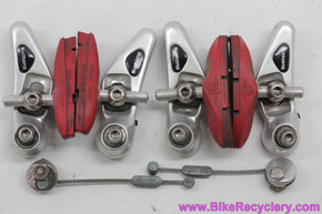 Shimano Deore XT BR-M734 Cantilever Brakeset: Early 1990's - Low Profile - Silver (EXC)