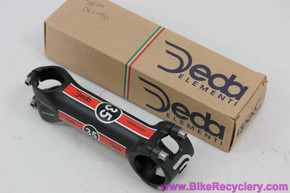 "Deda Trentacinque 35 Stem: 120mm x 35mm - 1 1/8"" - Black/Red - Ti Bolts (NEW)"