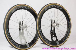 Boyd 60mm Carbon Tubular Retro Wheelset: High Flange Dura Ace 1st Gen Hubset - 24H x 126mm - C-Xray - Sugar Wheel Works (NEW)