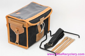 Gilles Berthoud GB192 Handlebar Bag w/ Straps & Klick-Fix Alloy Frame Mount: Black (NEW)