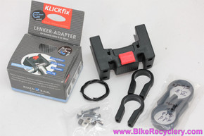 KlickFix Adapter For Handlebar Mount: 25.4mm & 31.8mm (New)
