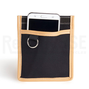 Berthoud Cell Phone Interior Pocket: Black & Tan Leather (NEW)
