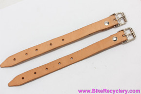Berthoud Leather Straps for Handlebar / Saddle Bags or Panniers: Pair (NEW)