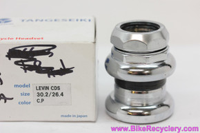 "NIB/NOS Tange Levin CDS Threaded Headset: 1"" - Silver No Logo - 26.4mm"