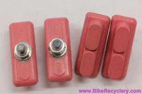 NOS Skyway Tuff Pads: Pastel Pink - Old School BMX (Set of 4)