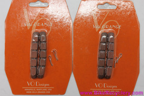 Velo Orange V-Brake & Cantilever Shoes / Pad Inserts: Salmon (Set of 4)