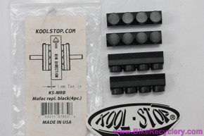 Kool Stop Mafac Racer/Raid/Criterium Four Dot Replacement Pads: Black - KS-MRB (Set of 4)