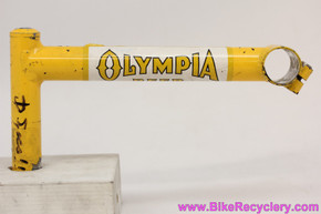 SUPER LONG Olympia Beer MTB Quill Stem: 190mm x 25.4mm - Zero rise - Steel - Yellow