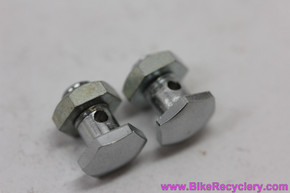 NOS Mafac Cable Carrier Anchor Bolt / Nut Assembly: Polished Centerpull & Cantilever - Chrome (PAIR)