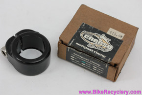 """Big Cheese Select Seatpost Clamp / Collar: 1 1/8"""" - BMX - Black (NEW)"""
