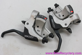Shimano XT ST-M750 9 Speed Rapidfire Shifter Combo: Black & Grey - Front Rear Pair (EXC)