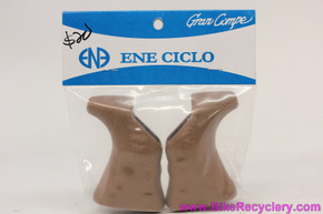 Dia-Compe 204 / Dura Ace Bl-7400 Non-Aero Brake Lever Hoods: Tan / Brown (Pair, NEW)