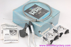 NIB/NOS Shimano 105 BR-1050 Brakeset & BL-1050(BL-1051) Brake Levers: Cables/housing - 1980's