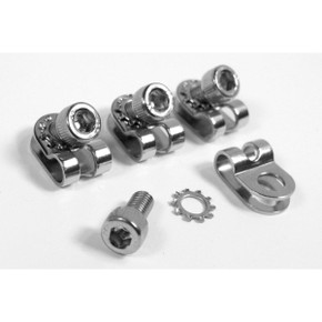 Velo Orange R-Clamps: 5mm - Set of 4  - Silver (NEW)