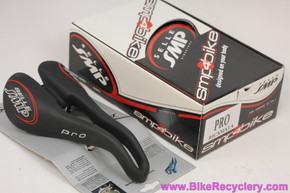 Selle SMP Pro Saddle: Black Leather - 278mm x 148mm - Dropped Nose (NEW)