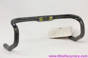 3T MORE Carbon Handlebar: 42cm x 31.8mm - Flat Top - Black/Yellow - High Modulus - RARE (Near Mint)