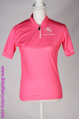 Giordana Short Sleeve Road Jersey: Small (men's?) Bright Pink (Almost New)