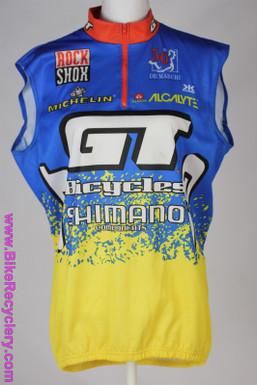 NOS GT MTB Team Vest: XL - Vintage 1990's - De Marchi - Acalyte - Michelin - Blue/Yellow
