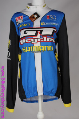 GT MTB Team Jersey: XL Long Sleeve - Vintage 1990's+ - Acura - ESQ - Nike -  Acalyte - Michelin - Blue/Yellow/White (NEW w/ tags)