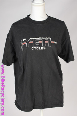 Yeti Cycles Ice Axe T-Shirt: Vintage 1990's Faded Black - Large - Durango