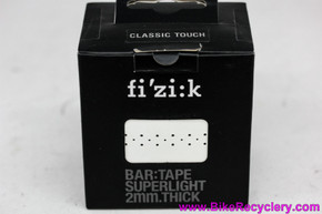 Fizik Superlight Classic Touch Bar Tape: Perforated White Faux Leather- 2mm (NEW)
